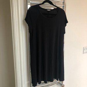Soprano Black T-shirt Dress w/Pockets- XL